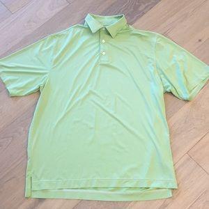 Footjoy striped polo green white xl